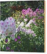 Layered Florals Wood Print
