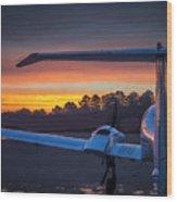 Layered Sunrise On The Ramp Wood Print
