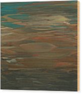 Layered Teal Sunset Wood Print