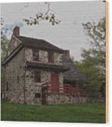 Layfayette's Headquarters At Brandywine Wood Print