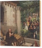 Lazarus And The Rich Man 1865 Wood Print