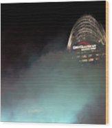 Laser Light Smoke And Great American Wood Print
