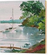 Lazy Cove Wood Print