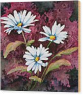 Lazy Daisies Wood Print