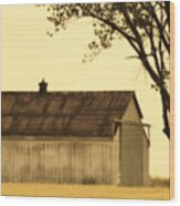 Lazy Days Barn  Wood Print
