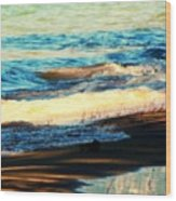 Lazy Waves Wood Print