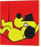 Lazy Yellow Dog Wood Print