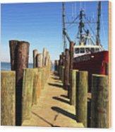 Lbi Down The Dock Wood Print