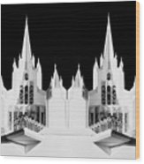 Lds - Twin Towers 2 Wood Print