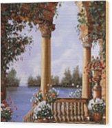 Le Arcate Chiuse Sul Lago Wood Print
