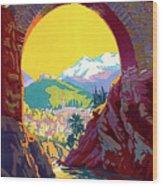 Le Ban, Pyrenees, France, Old Bridge Wood Print