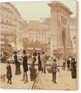 Le Boulevard St Denis - Paris Wood Print
