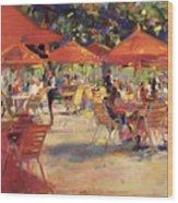 Le Cafe Du Jardin  Wood Print