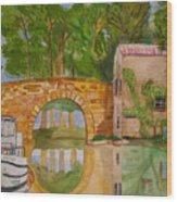 Le Canal Du Midi Wood Print