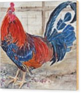 Le Chantecler- King Of The Roost Wood Print