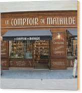 Le Comptoir De Mathilde Wood Print