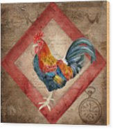 Le Coq - Timeless Rooster  Wood Print