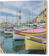 Le Fortune At Nice Harbor, France Wood Print