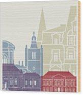 Le Havre Skyline Poster Wood Print