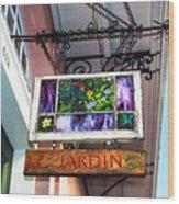 Le Jardin Fine Art Wood Print