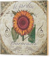 Le Jardin Tournesols  Wood Print