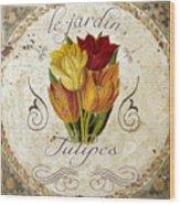 Le Jardin Tulipes Wood Print