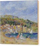 Le Lavandou Wood Print by Pierre Auguste Renoir