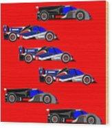 Le Mans 2011 top 6 cars Wood Print