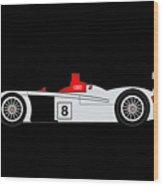 Le Mans Audi R8 Wood Print