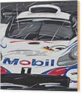 Le Mans Porsche 911 Gt 1995 Wood Print