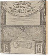 Le Nozze Degli Dei: Frontispiece Wood Print