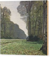 Le Pave De Chailly Wood Print by Claude Monet