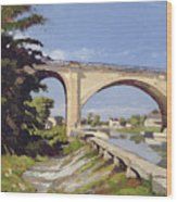 Le Pont Canal A Briare Wood Print