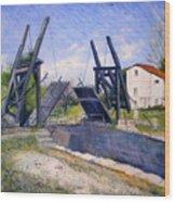 Le Pont De Langlois A Arles Provence France 2004  Wood Print