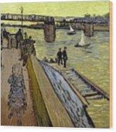 Le Pont De Trinquetaille In Arles Wood Print by Vincent Van Gogh