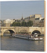 Le Pont Neuf. Paris. Wood Print