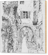 Le Pontis Saint-paul De Vence France Wood Print