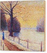 Le Puy In The Snow 1889 Wood Print