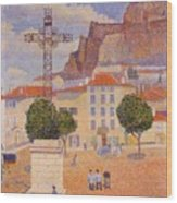Le Puy The Sunny Plaza 1890 Wood Print