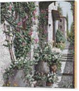 Le Rose Rampicanti Wood Print