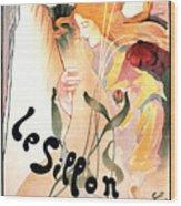 Le Sillon - The Path - Vintage Art Nouveau Poster Wood Print