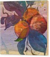 Le Temps Des Oranges Wood Print