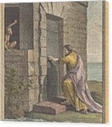 Le Thesauriseur Et La Singe (the Miser And The Monkey) Wood Print