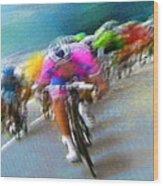Le Tour De France 09 Wood Print