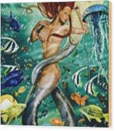 Lea The Mermaid Wood Print