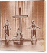 Lead Me To The Cross Wood Print