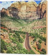 Lead Me To Zion Wood Print
