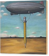 Lead Zeppelin Wood Print by Leah Saulnier The Painting Maniac