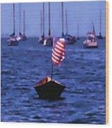 Leader Of The Pack- Bristol Rhode Island Oil Effect Wood Print