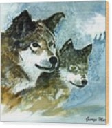 Leader Of The Pack Wood Print